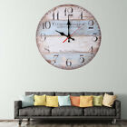12'' Inch Retro Wall Clock Vintage Decor Silent Non Ticking Wall Clocks Quartz