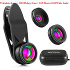 ZOETOUCH Cell phone lens 5 in 1 HD Camera Kit 230° Fisheye +0.8x Wide Angle+15x