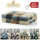 Throw Bed Blanket Sofa Home Couch Lightweight Farmhouse Plaid Fleece Blanket New image