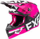 FXR Black/Fuchsia Youth Boost Evo DOT ECE Snowmobile Helmet Snow 2019
