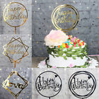 Happy Birthday Love Cake Topper Acrylic Letter Top Flag Wedding Party Decor Sanw
