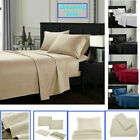 Queen King Deep Pocket Bed Sheets Set Fitted Flat 1800 Count Egyptian Comfort H3 image