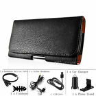 Leather Holster Belt Clip Carrying Case Horizontal Pouch For Motorola Moto Phone