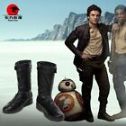 Star Wars The Last Jedi Poe Dameron Cosplay Leather Boots Shoes  N1.4 $45.0 USD on eBay