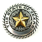 "6 PCS WESTERN TEXAS STATE SEAL SCREWBACK CONCHOS (3) COLORS 1 "" DIAMETER NEW"
