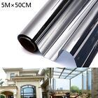 1x Mirror Reflective One Way Privacy Window Film Sticky Back Glass Tint for Home