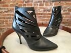 Steve Madden Triisha Pewter Leather Cutout Bootie New