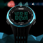 SKMEI Men Women Sports Watch Waterproof LED Military Digital Day Wristwatches US image
