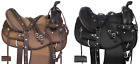 Used Light Weight Brown Synthetic Cordura Trail Show Silver Western Horse Saddle
