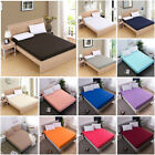 Comfort Fitted Sheets Bed Sheet Bedding Cover Deep Pocket Full King Queen Cotton image