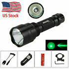 Military VASTFIRE 5000Lm C8 LED Flashlight Torch Hunting Light Mount   Switch