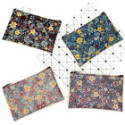 New Vintage Mini Floral Cotton Fabric Square Pouch Card Holder Wallet Coin Purse