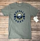 Mens NHL Hockey Buffalo Sabres Grey Basic T-shirt Size S, M, XL $8.99 USD on eBay
