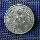 1968 Singapore 20 Cents Average Circulated Condition & Highly Collectible