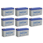 Power-Sonic 12V 9AH Replacement Battery for Boss Buck Conversion Kit - 8 Pack