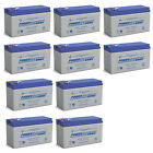 Power-Sonic 12V 9AH Replacement Battery for Boss Buck Conversion Kit - 10 Pack