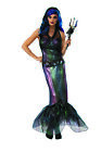 Regina di The Dark Seas Donna Adulti Evil Sirena Sirena Costume Halloween
