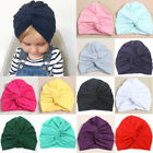 Baby Kids Sweet Cotton Cross Knotted Indian Hat Turban Cap Headband Headwrap New