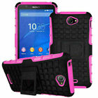 For Sony Hybird Shockproof PC Rubber Armor Protector Phone Case Hard Stand Cover