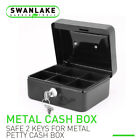 5' &6' Locking Cash Box Money Small Steel Lock Security Safe Storage Check Black