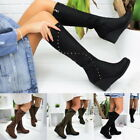 Women Ladies Fashion Zippers Boots Knee-High Boots Causal Platform Sexy Shoes