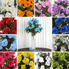 192 Extra Large Silk Roses Buds Bushes Wedding Flowers Arrangements Centerpieces