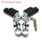 Dually Highway Foot Pegs Quick Clamps for 1-1/4