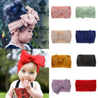 7'' Big Bows Texture Top Knot Wide Headband DIY Hair Band Headwrap For Girl Kids