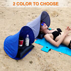 Face Tent With Air Pillow Canvas Outdoor Sun Shelter Beach Lightweight Foldable