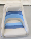 1983+Concord+20%27+Marine+Boat+Blue+Grey+Captains+Chair+Seat+19%22+H+x+21+3%2F4%22+W