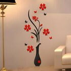 3D Vase Tree Flower Crystal Arcylic Wall Stickers Decal Living Room Home Deco♡