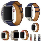 For Apple Watch Series 5 4 3 2 Leather iWatch Band Strap Bracelet+Classic Buckle image