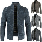 Men Thicken Zipper Knitwear Cardigan Coat Winter Warm Long Sleeve Sweater Jacket