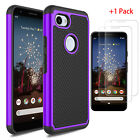 For Google Pixel 3a/3a XL Case Shockproof PC Phone Cover +Glass Screen Protector