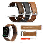 Genuine Leather Wrist Band Strap Bracelet for Apple Watch 38mm 42mm Series 1 2 3