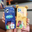 Phone Glass Case For iPhone Xs 6P 7P 8P Cartoon Design Shockproof Pattern Case
