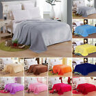 Warm Soft Mink Throw Large Fleece Sofa Bed Blanket Double King Size Solid Color image