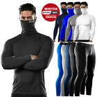 Men Cold Gear Compression Tight Fleece Thermal Base Layer Under Shirts Pants