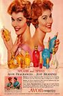 Avon Cosmetics Fragrance Vintage Advert Retro Style Metal Sign, bedroom scent