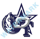 Dallas Cowboys Stars Mavericks Rangers MASH UP Vinyl Decal / Sticker 10 Sizes!!! $3.99 USD on eBay