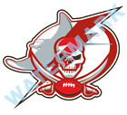 Tampa Bay Buccaneers Lightning Rays MASH UP Vinyl Decal/ Sticker 10 Sizes!!! $3.99 USD on eBay