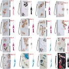 Bling Crystal Diamonds PU leather flip slots wallet case cover For cellphone