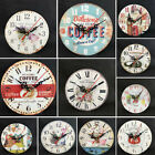 Vintage Wall Clock Silent Non-ticking Livingroom Study Room Decor Batterry sz