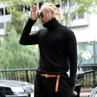 ByTheR Mens Basic Solid Knit Slim Fit Turtleneck Long Sleeve Soft Tee Sweater