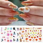 Autumn Maple Leaf Flower Nail Art Water Decals Transfer Stickers Nail Decoration