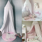Kids Children Mosquito Net Bed Canopy Yarn Play Tent Bedding with Round Dome image