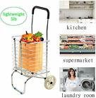 Utility Shopping Carts - Wheeled Rolling for Laundry Luggage Grocery, Heavy Duty
