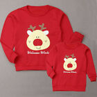 US Family Matching Adult Kid Xmas Christmas Jumper Sweaters Tops Pullover Blouse