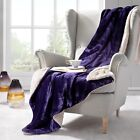 Sherpa Throw & Sofa Blanket Faux Wool Throw, Soft Thick Heavy Knit in 7 Colours