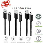 6FT Micro USB 3.0 Fast Charger Data Sync Cable Cord For Samsung Android HTC LG